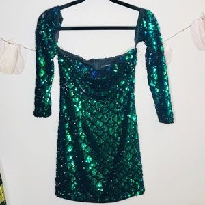🔥forever 21 sequin club party dress mermaid